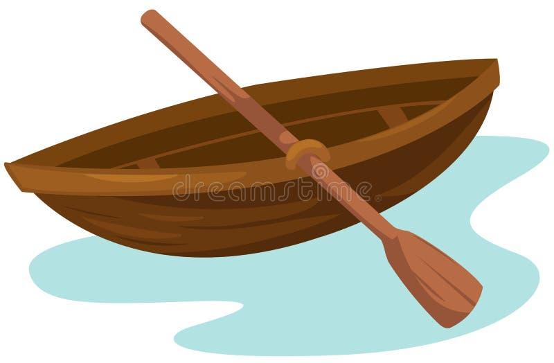 Barco de madeira ilustração royalty free