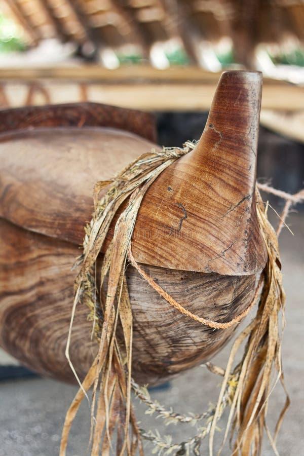 Barco de madeira primitivo foto de stock