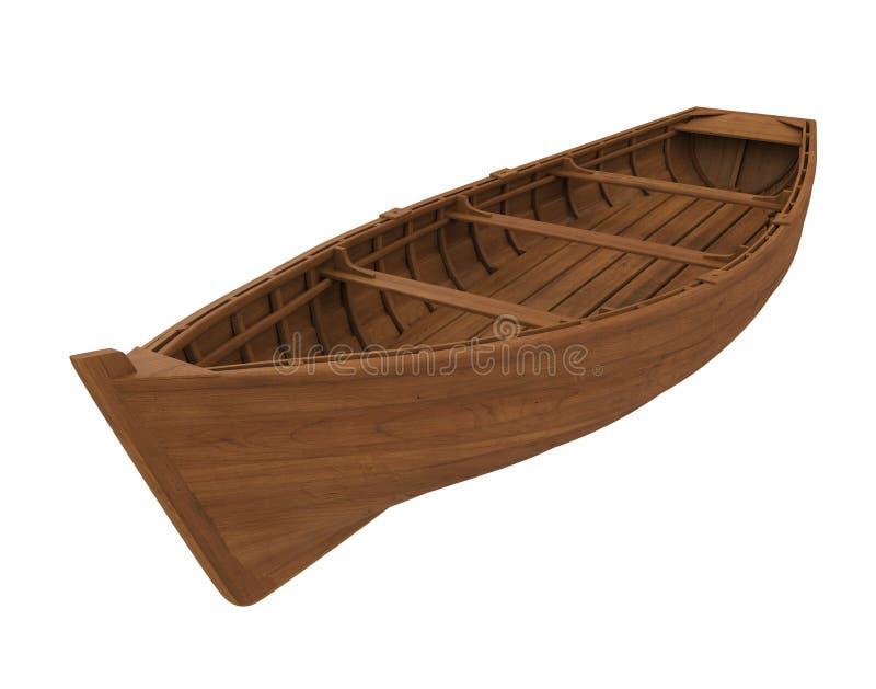 Barco de madera aislado stock de ilustración