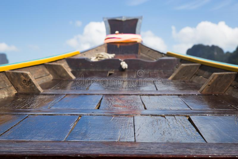 Barco de madera de la cola larga fotos de archivo libres de regalías