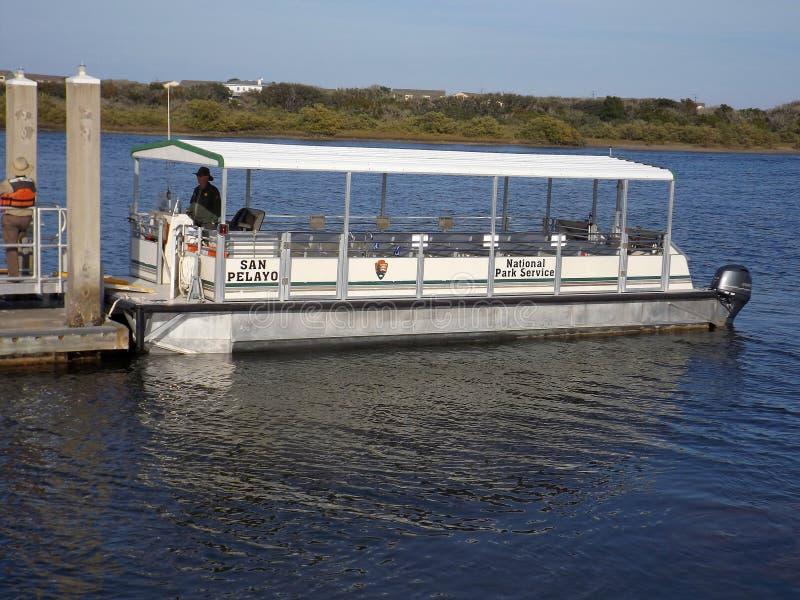 Barco de Matanzas del fuerte de National Park Service imágenes de archivo libres de regalías