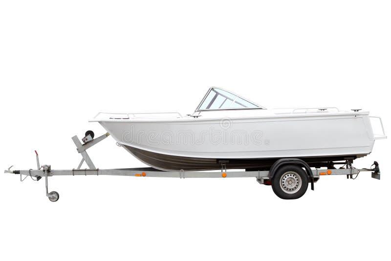 Barco de motor blanco foto de archivo