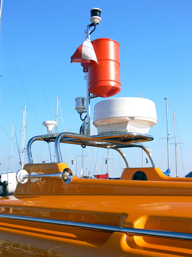 Barco de motor do salvamento foto de stock royalty free