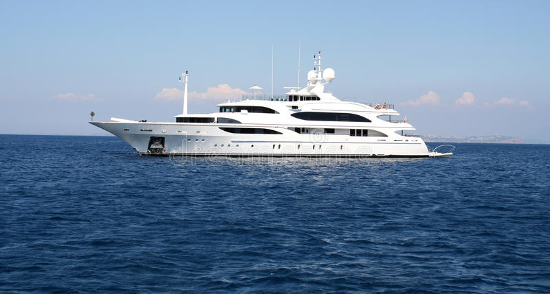 Barco de motor luxuoso. fotos de stock royalty free