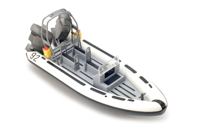 Barco de motor no branco imagens de stock royalty free