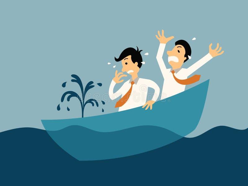 Barco de naufrágio ilustração do vetor
