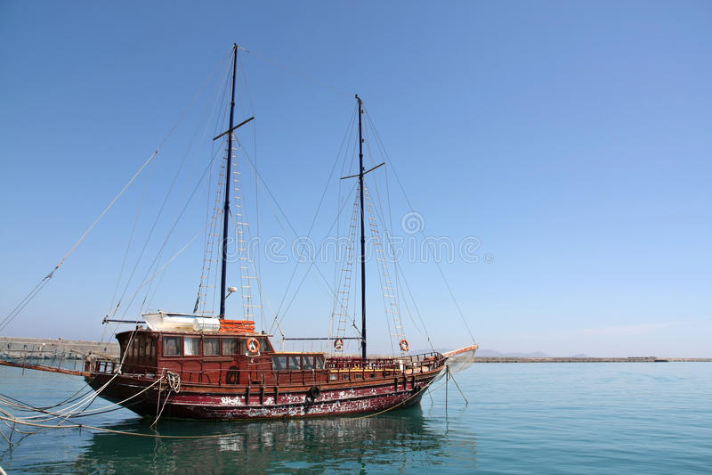Barco de navegación viejo fotos de archivo