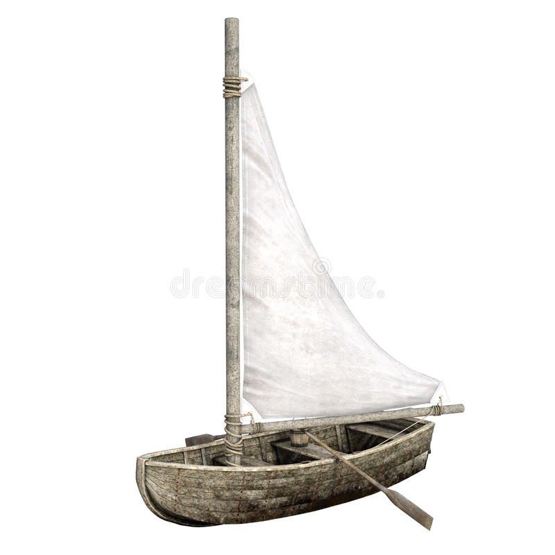 Barco de navigação ilustração stock