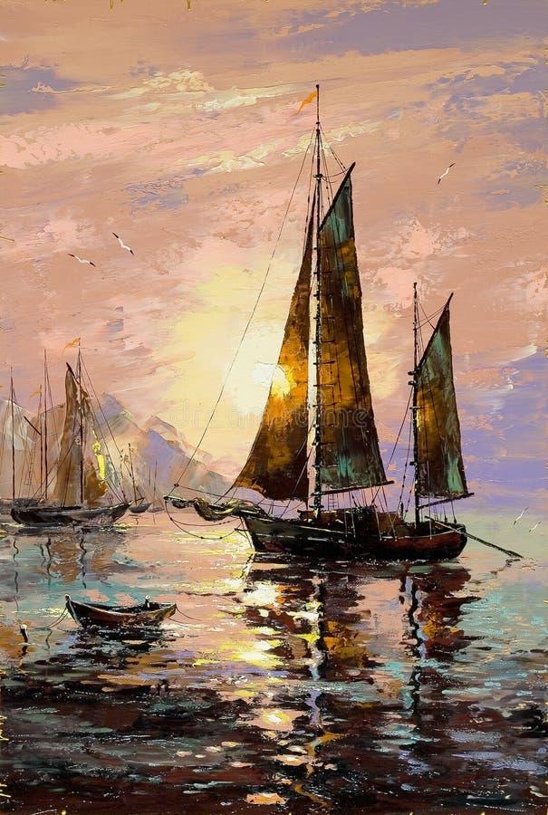 Barco de navigação ilustração do vetor
