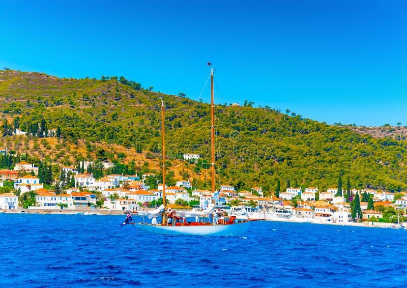 Barco de navigação de madeira clássico fotografia de stock