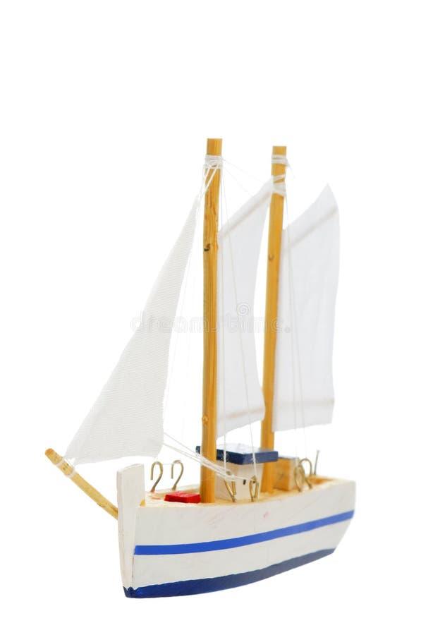 Barco de navigação do brinquedo fotografia de stock