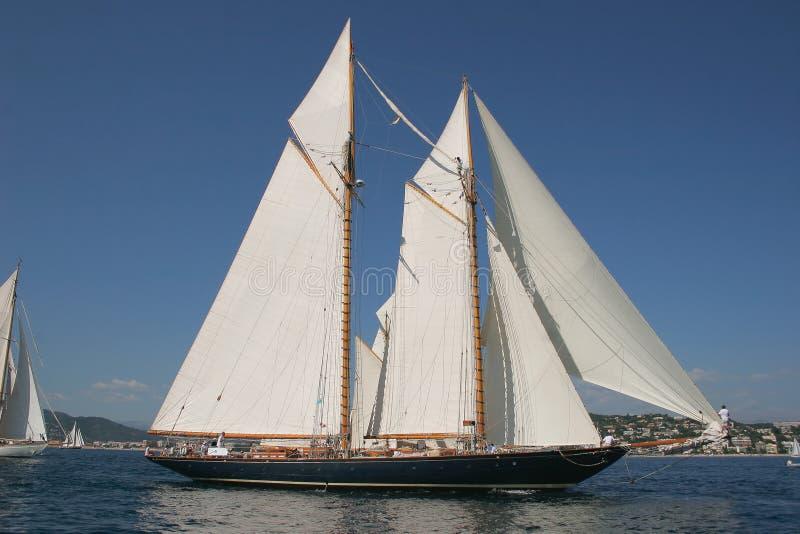 Barco de navigação velho imagens de stock
