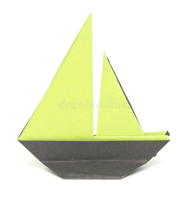 Barco de Origami foto de stock royalty free