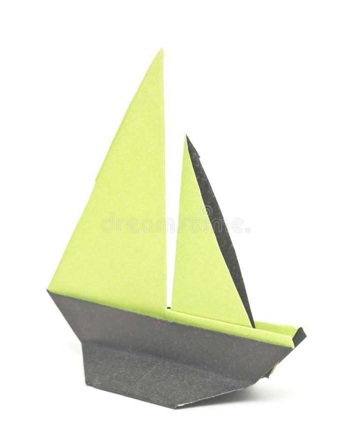 Barco de Origami fotografia de stock royalty free