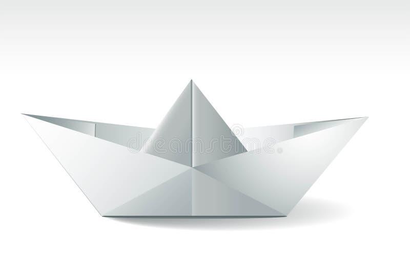 Barco de papel abstracto stock de ilustración