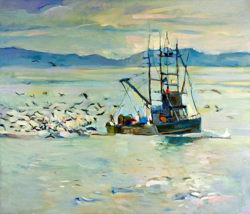Barco de pesca libre illustration