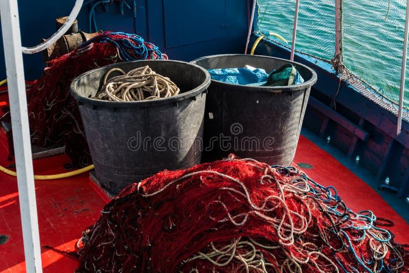 Barco de pesca de Cerdeña foto de archivo