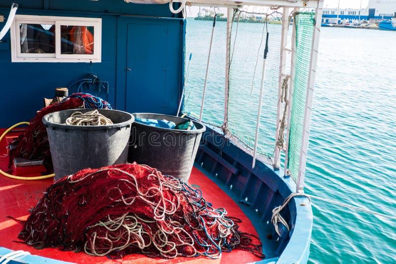 Barco de pesca de Cerdeña fotografía de archivo libre de regalías