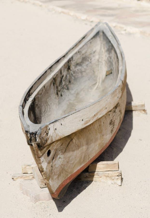 Barco de pesca de madeira do emirati tradicional antigo velho, departamento Dubai United Arab Emirates fotos de stock royalty free