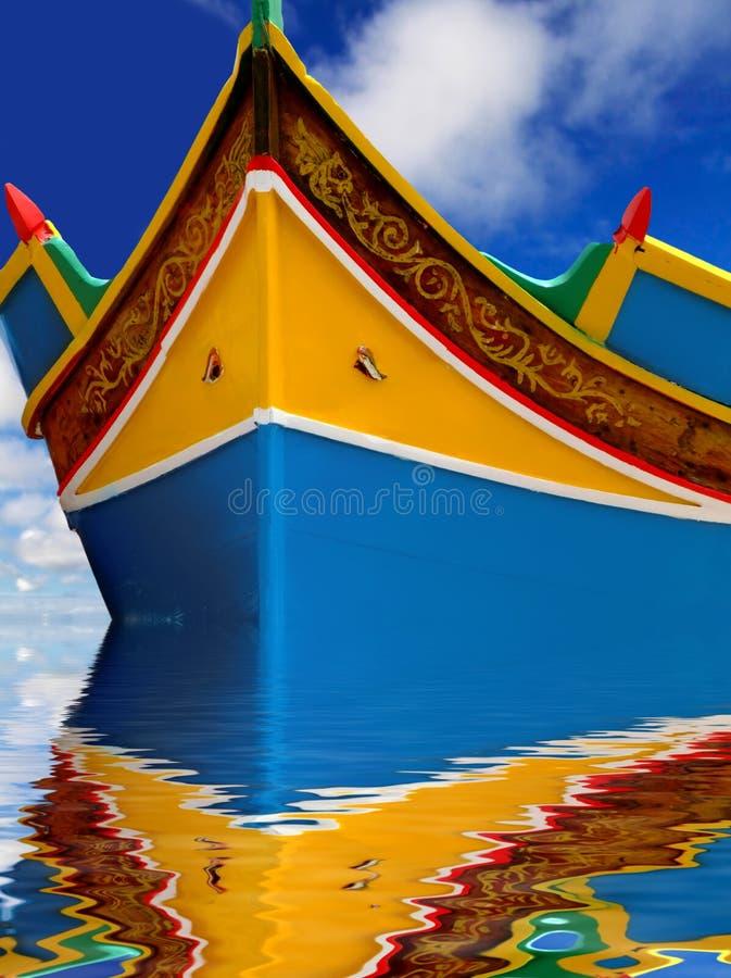 Barco de pesca de Malta fotografia de stock