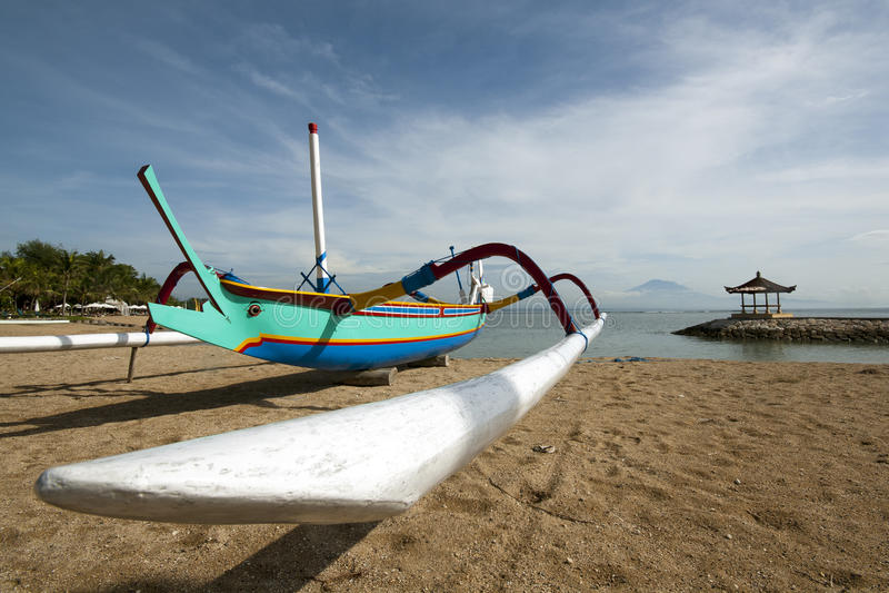 Barco de pesca del Balinese foto de archivo libre de regalías