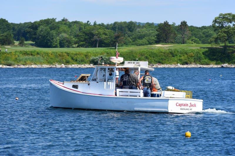 Barco de pesca en Rockland, Maine imágenes de archivo libres de regalías