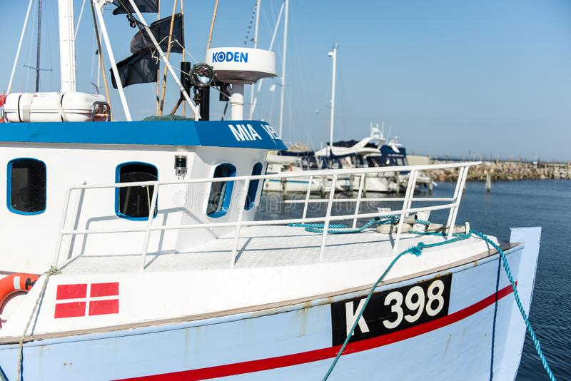 Barco de pesca en Vedbaek imágenes de archivo libres de regalías