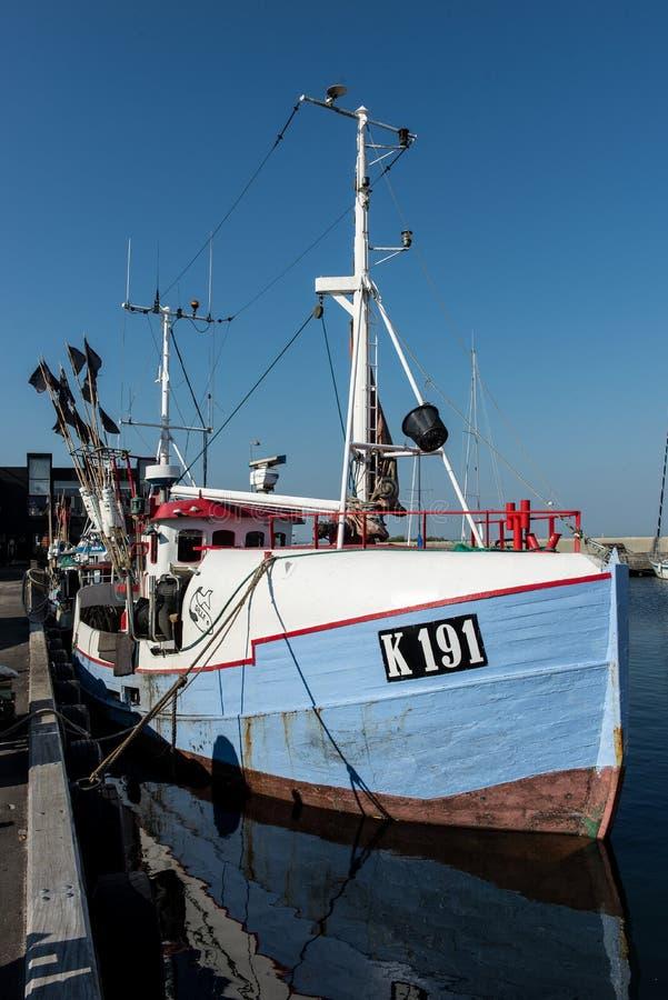Barco de pesca en Vedbaek imagen de archivo libre de regalías
