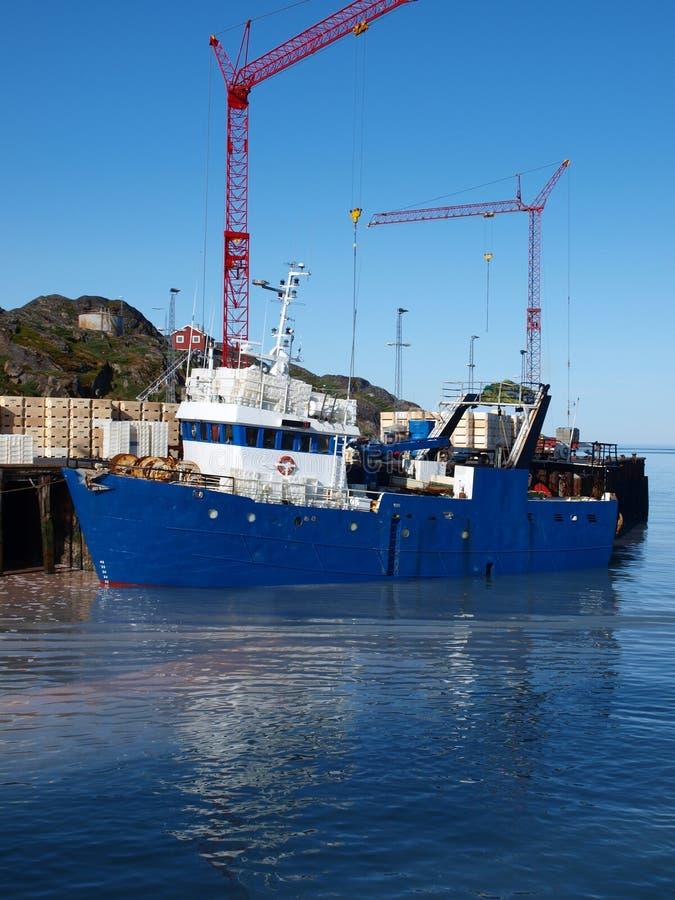 Barco de pesca, Groenlandia fotografía de archivo