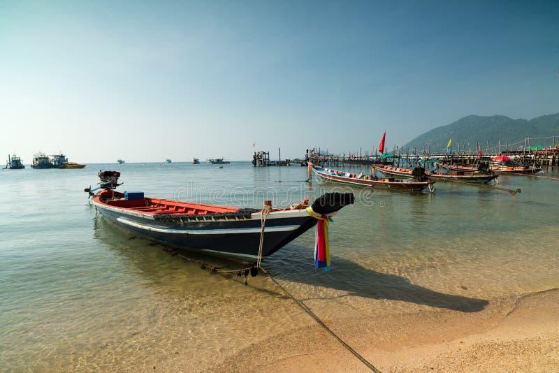 Barco de pesca, Koh Tao Island imagens de stock