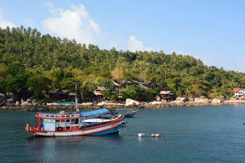 Barco de pesca Koh Tao tail?ndia fotos de stock royalty free