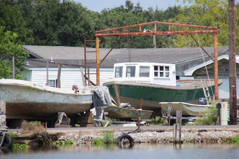 Barco de pesca de Luisiana imágenes de archivo libres de regalías