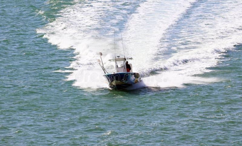 Barco de pesca no barco de Miami Beach Florida as Caraíbas fotografia de stock royalty free