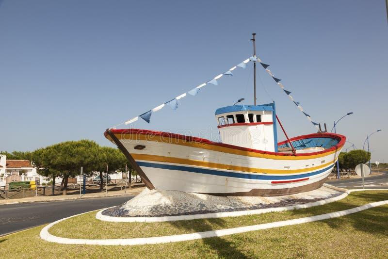 Barco de pesca velho na Espanha fotografia de stock