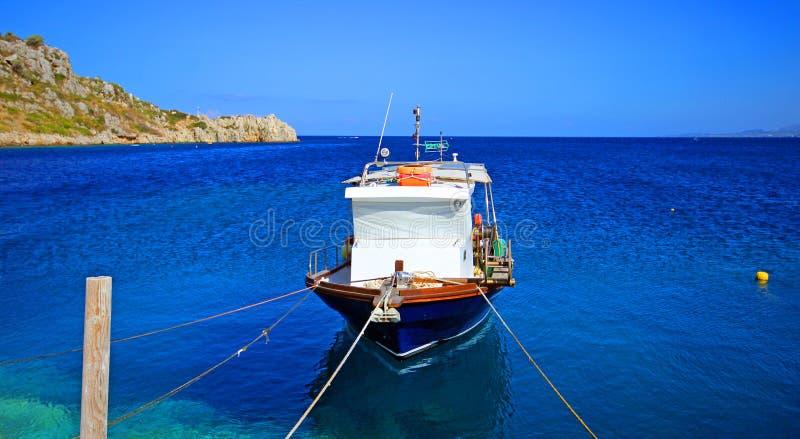 Barco de pesca Zakynthos, Greece fotografia de stock
