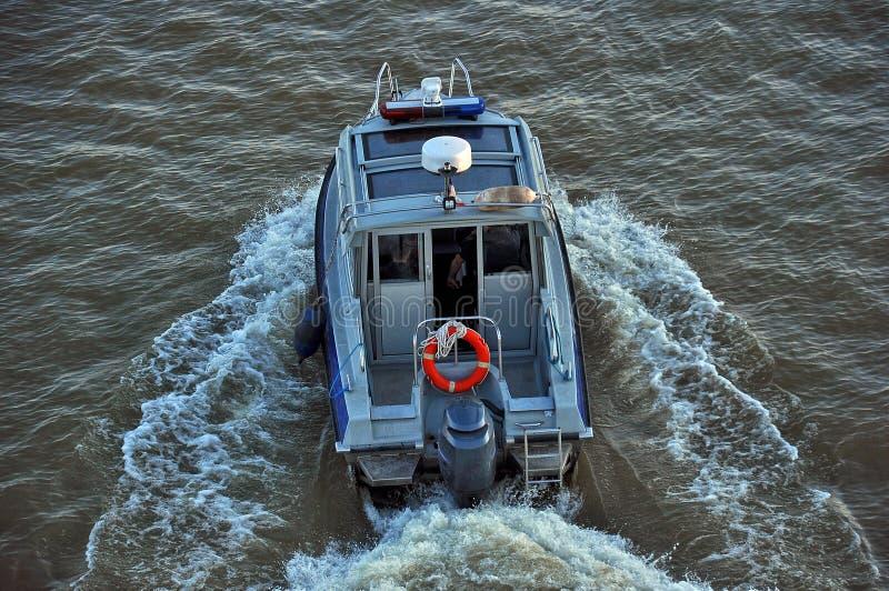 Barco de policía París imágenes de archivo libres de regalías