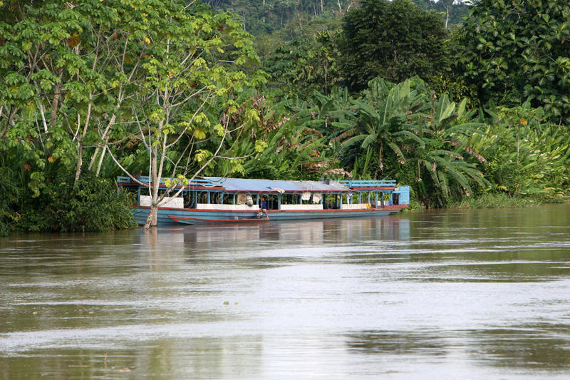 Barco de rio de Amazon imagens de stock royalty free