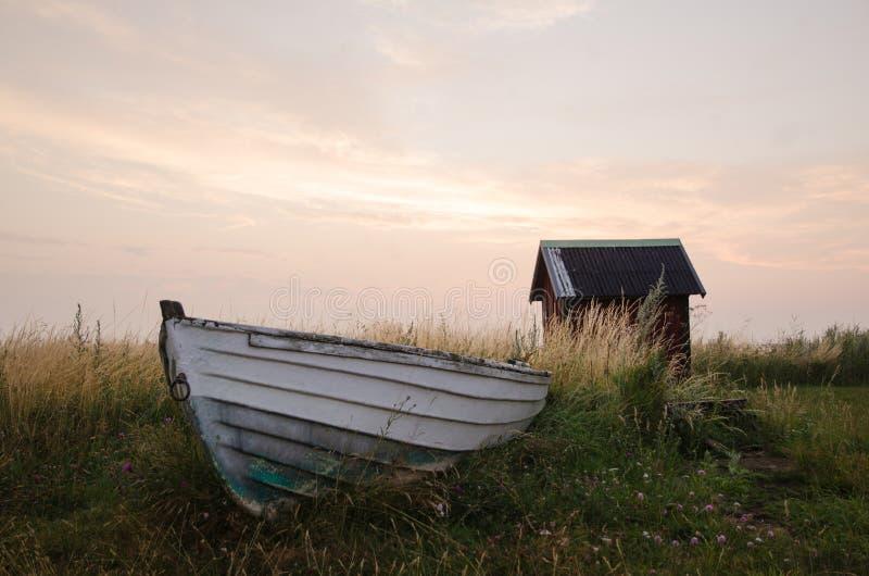 Barco de Rowing viejo fotos de archivo