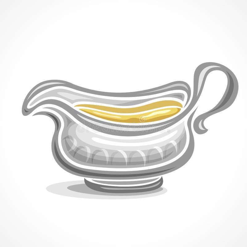 Barco de salsa de cerámica del logotipo abstracto del vector libre illustration