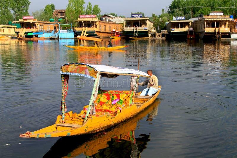 Barco de Shikara imagem de stock