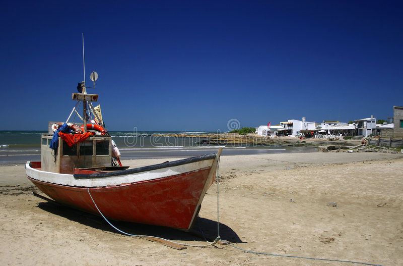 Barco de um pescador fotografia de stock royalty free