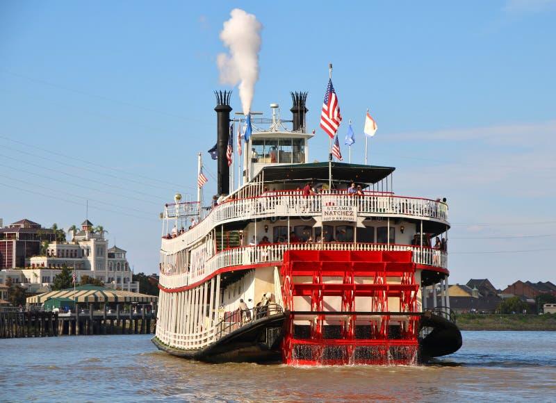 Barco de vapor NATCHEZ, río Misisipi de New Orleans foto de archivo libre de regalías