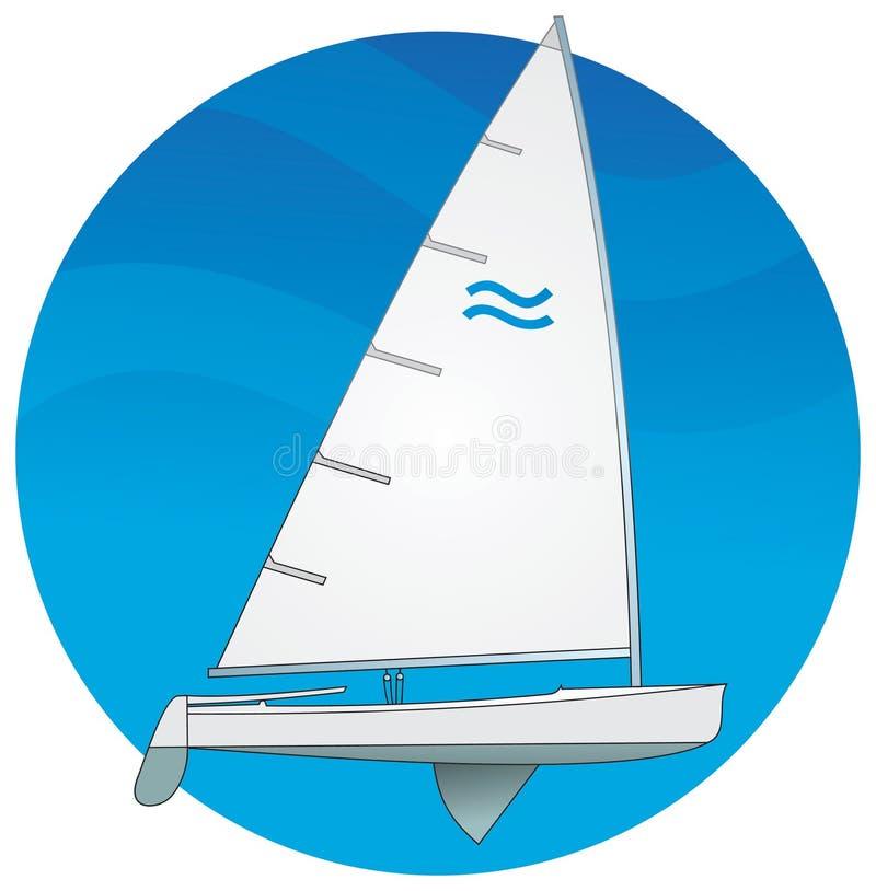 Barco de vela. Clase del Finn stock de ilustración