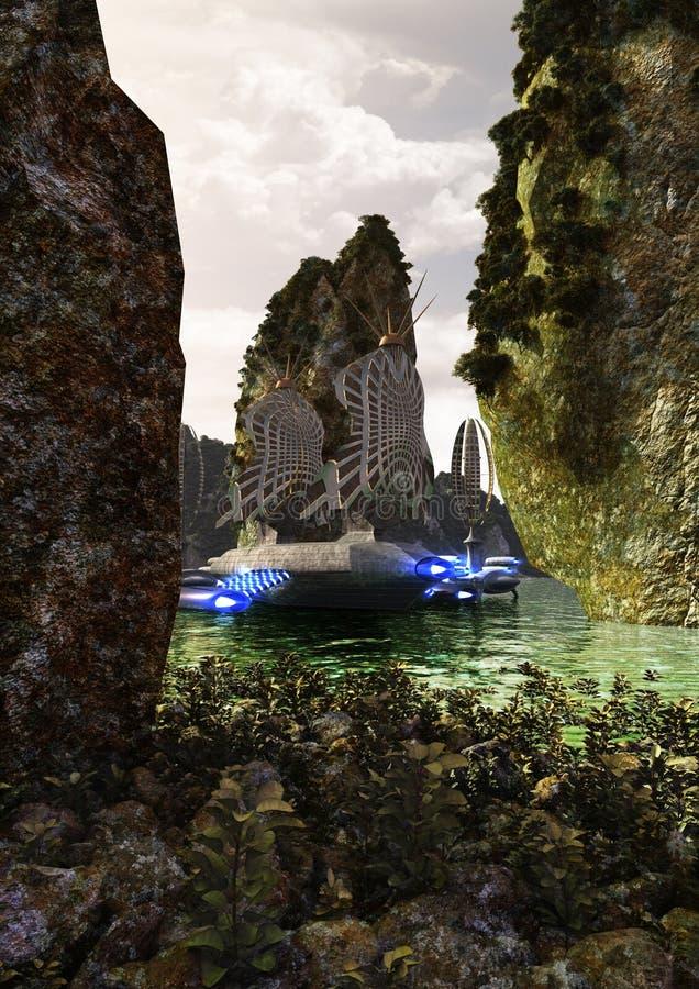 Barco de vela de Atlantis ilustração royalty free