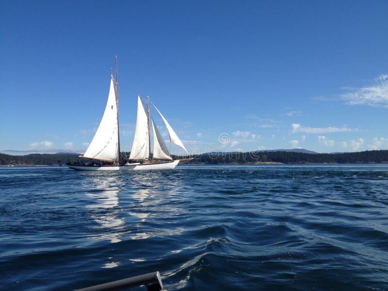 Barco de vela en el San Juan Islands imágenes de archivo libres de regalías