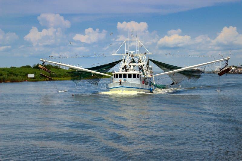 Barco del camarón de Luisiana fotografía de archivo