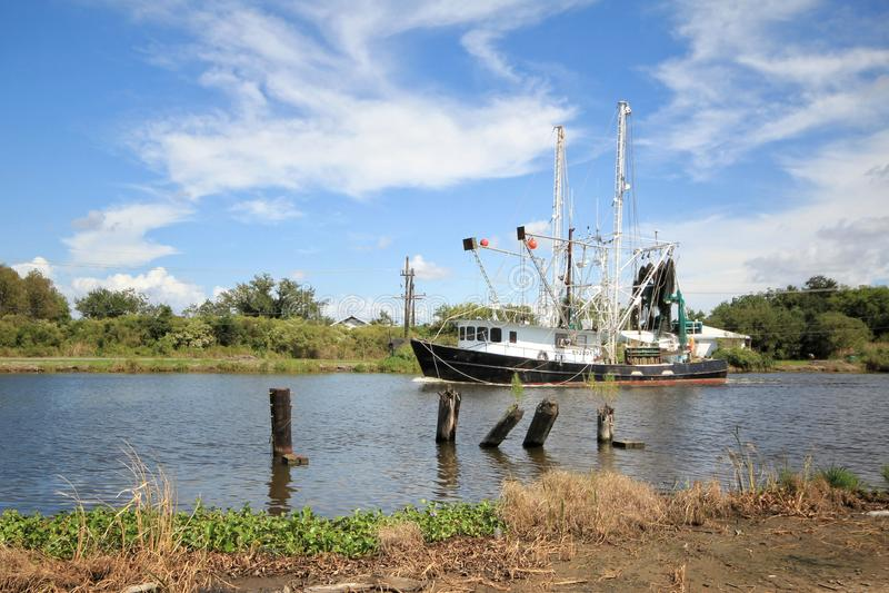 Barco del camar?n de Luisiana fotografía de archivo