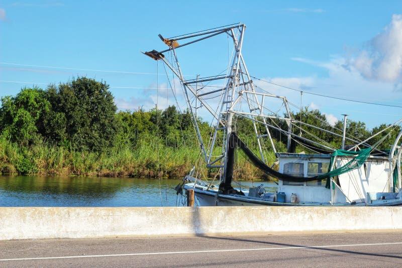 Barco del camar?n de Luisiana fotos de archivo