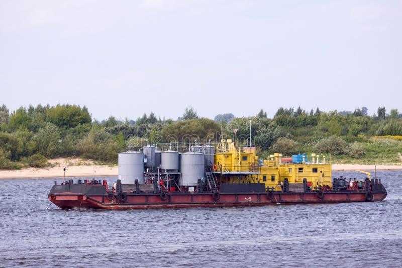 Barco del combustible fotos de archivo libres de regalías