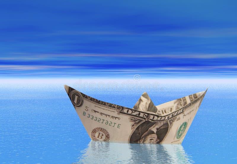 Barco del dólar fotos de archivo